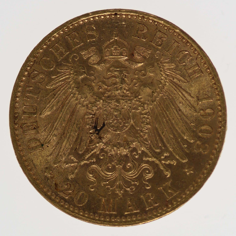 deutsches-kaiserreich-ab-1871 - Sachsen Georg 20 Mark 1903