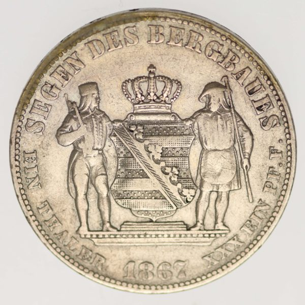 altdeutschland-deutsche-silbermuenzen - Sachsen Johann Ausbeutetaler 1867