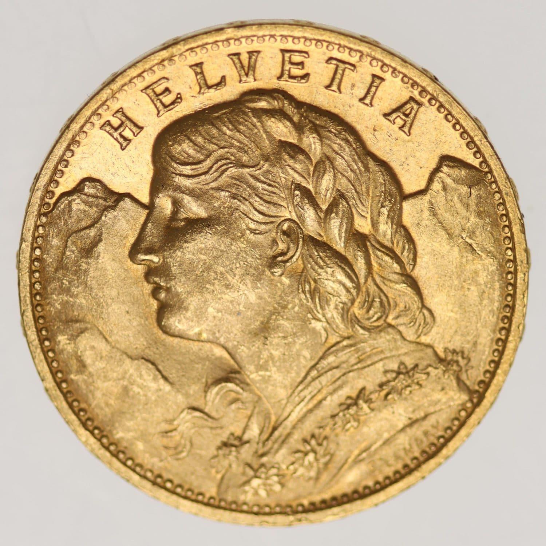 schweiz - Schweiz 20 Franken 1926 B Vreneli