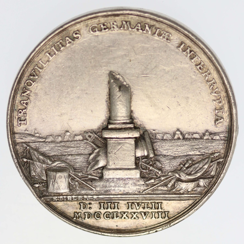 altdeutschland-deutsche-silbermuenzen - Preussen Schlesien Silbermedaille 1779