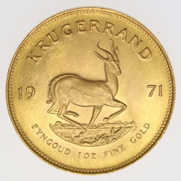 suedafrika - Südafrika Krügerrand 1 Unze 1971