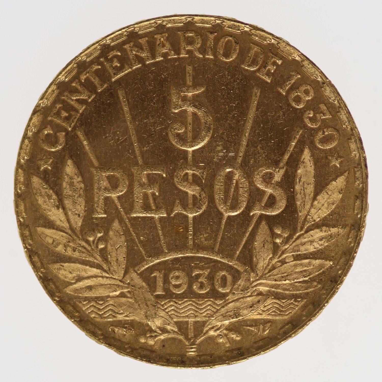 uruguay - Uruguay 5 Pesos 1930