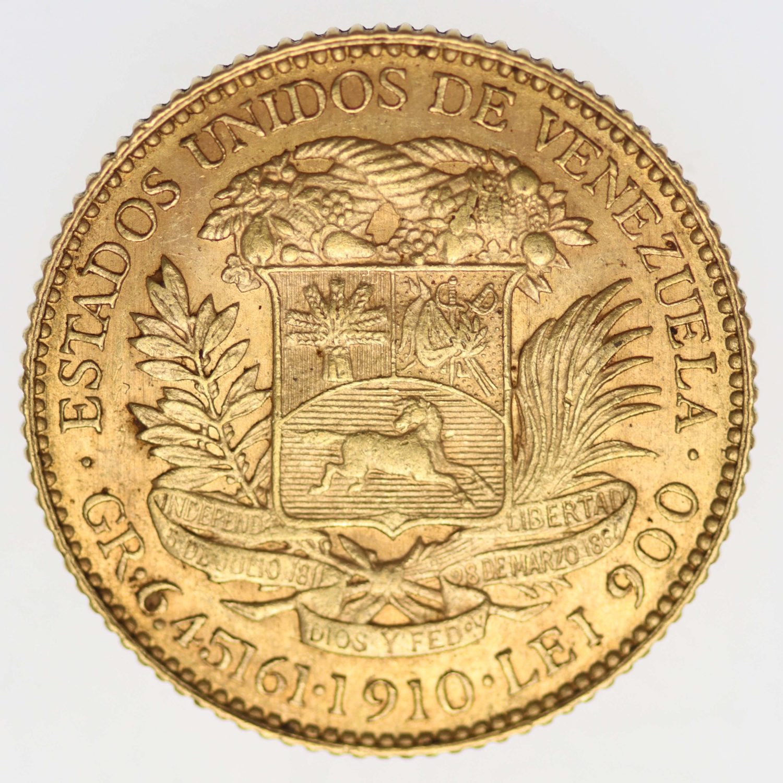 venezuela - Venezuela 20 Bolivares 1910