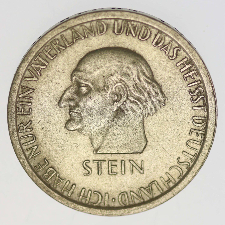 weimarer-republik-deutsche-silbermuenzen - Weimarer Republik 3 Reichsmark 1931 Freiherr vom Stein