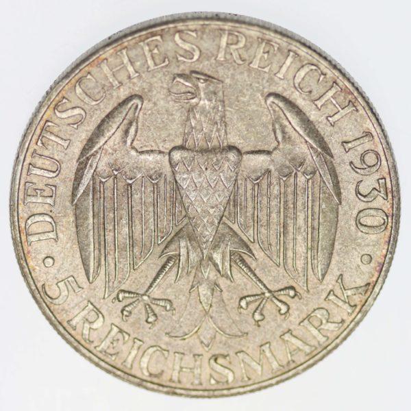weimarer-republik-deutsche-silbermuenzen - Weimarer Republik 5 Reichsmark 1930 F Zeppelin