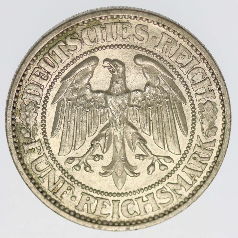weimarer-republik-deutsche-silbermuenzen - Weimarer Republik 5 Reichsmark 1932 G Eichbaum