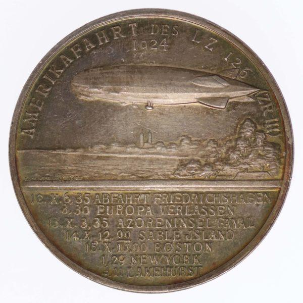 weimarer-republik-deutsche-silbermuenzen - Weimarer Republik Silbermedaille 1924