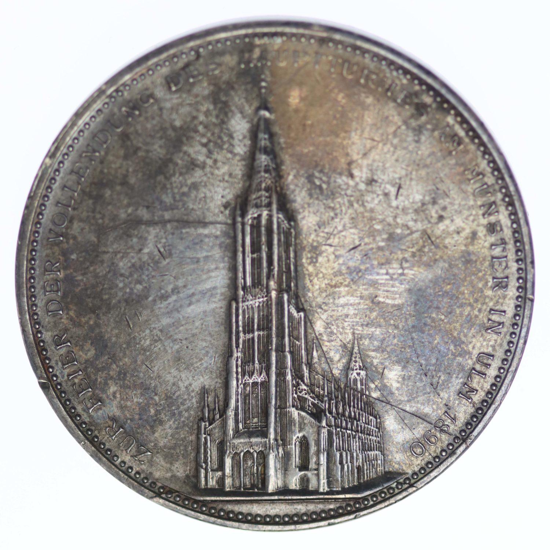 altdeutschland-deutsche-silbermuenzen - Württemberg Karl Silbermedaille 1890