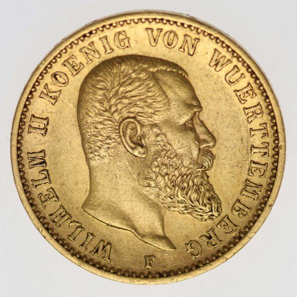deutsches-kaiserreich-ab-1871 - Württemberg Wilhelm II. 20 Mark 1894