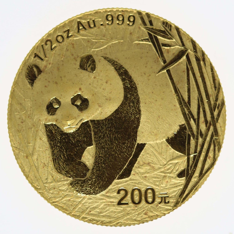 china - China Panda 1/2 Unze 2001