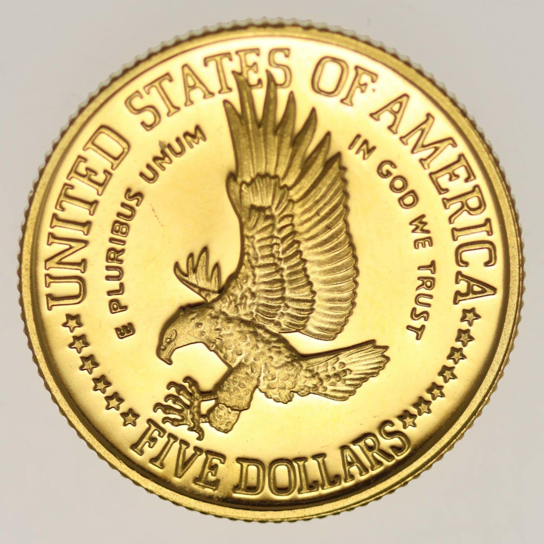 usa - USA 5 Dollars 1986