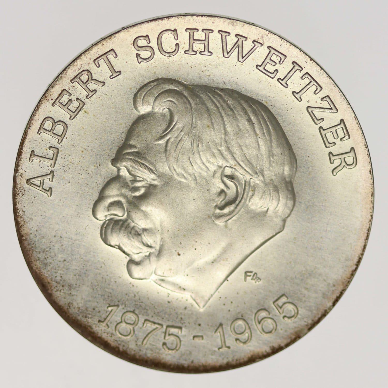 ddr-deutsche-silbermuenzen - DDR 10 Mark 1975 Schweitzer
