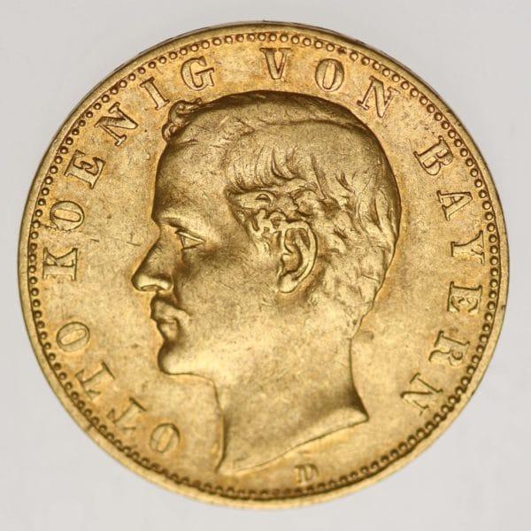 deutsches-kaiserreich-ab-1871 - Bayern Otto 10 Mark 1890