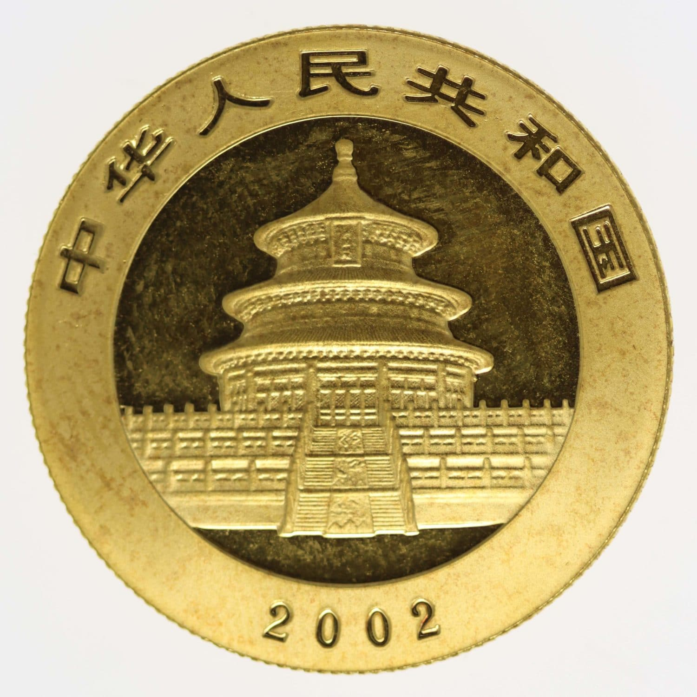 china - China Panda 1/2 Unze 2002