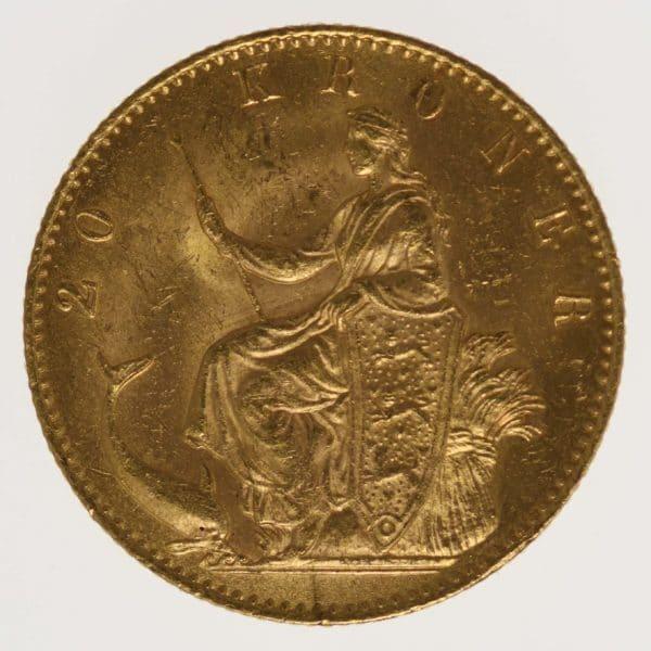 daenemark - Dänemark Christian IX. 20 Kronen1877