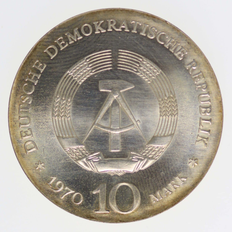 ddr-deutsche-silbermuenzen - DDR 10 Mark 1970 van Beethoven