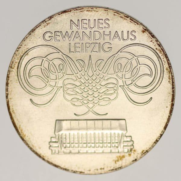 ddr-deutsche-silbermuenzen - DDR 10 Mark 1982 Gewandhaus Leipzig