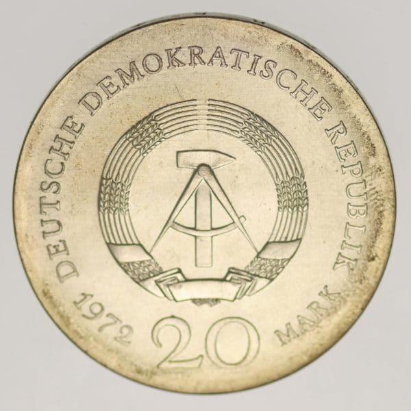 ddr-deutsche-silbermuenzen - DDR 20 Mark 1972 Lucas Cranach