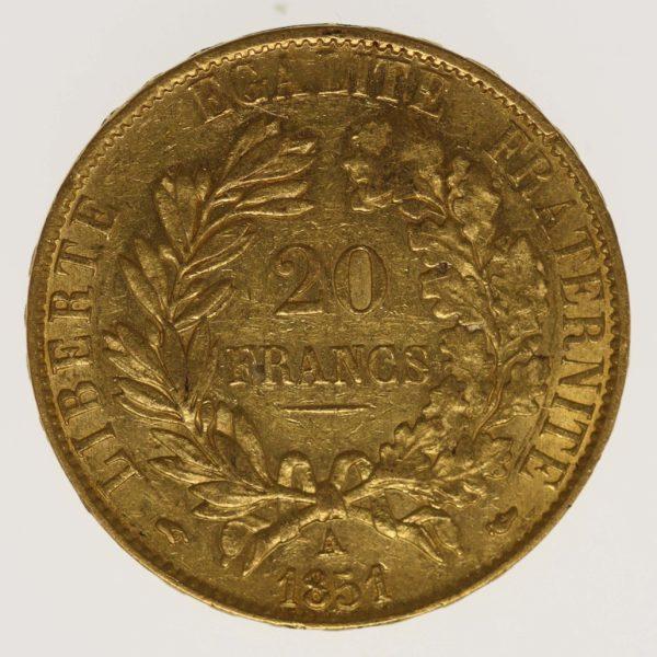 frankreich - Frankreich 20 Francs 1851 A