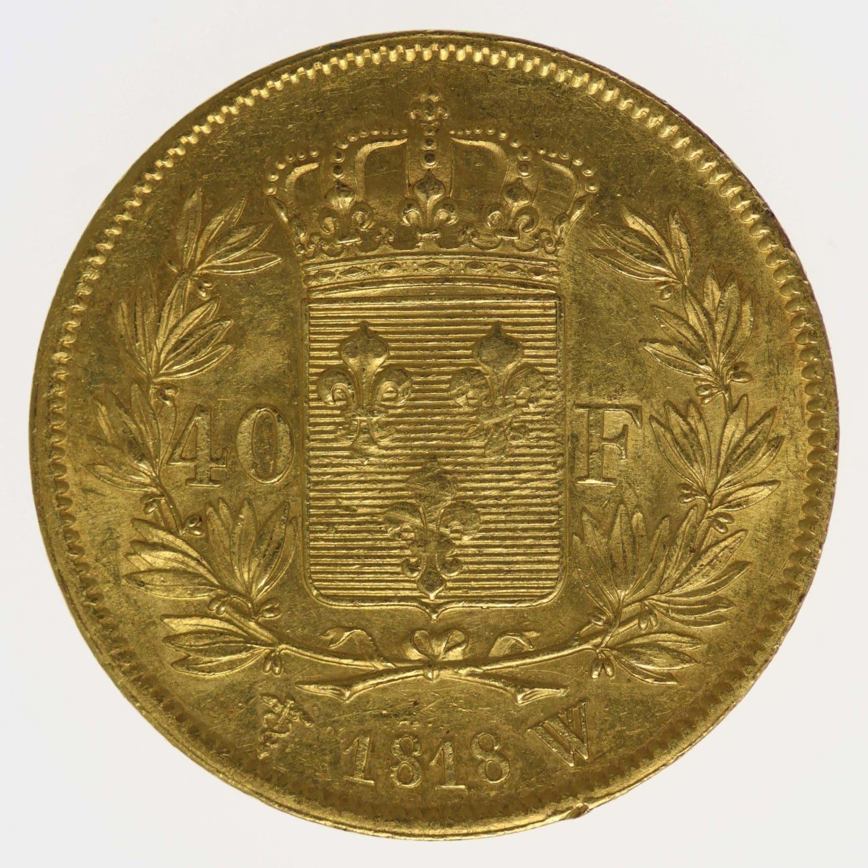frankreich - Frankreich Louis XVIII. 40 Francs 1818 W