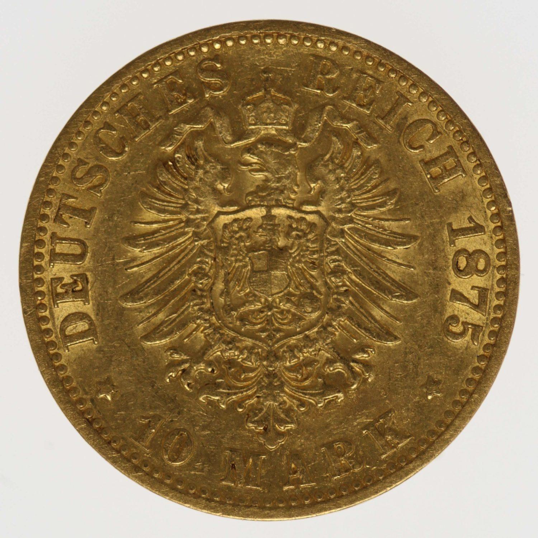 deutsches-kaiserreich-ab-1871 - Hamburg 10 Mark 1875