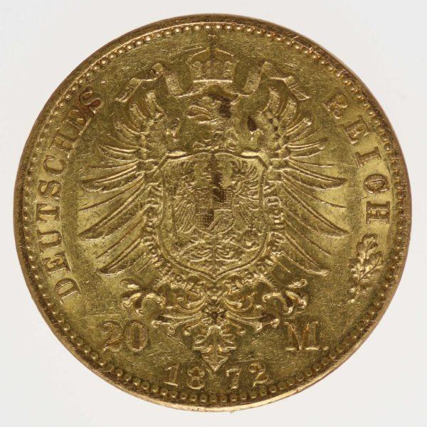deutsches-kaiserreich-ab-1871 - Hessen Ludwig III.20 Mark 1872