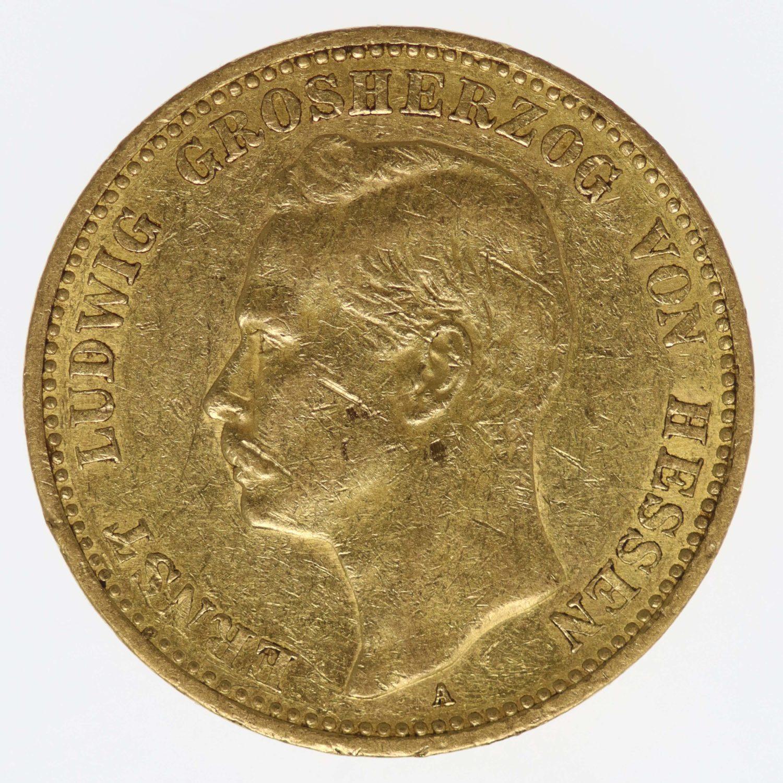 deutsches-kaiserreich-ab-1871 - Hessen Ernst Ludwig 20 Mark 1899