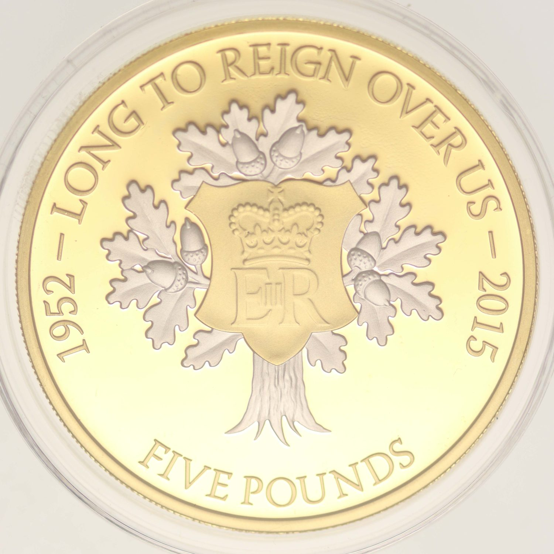 grossbritannien - Jersey Elisabeth II. 5 Pounds 2015