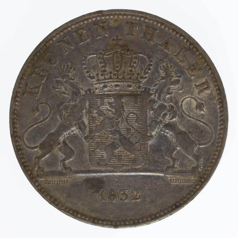 altdeutschland-deutsche-silbermuenzen - Nassau Wilhelm Kronentaler 1832