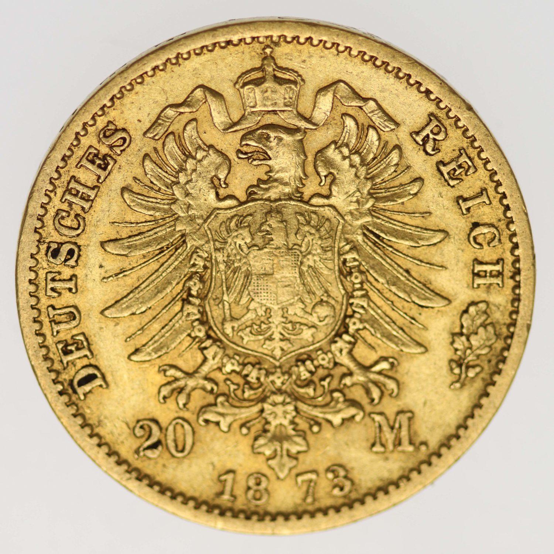 deutsches-kaiserreich-ab-1871 - Preussen Wilhelm I.20 Mark 1873 A