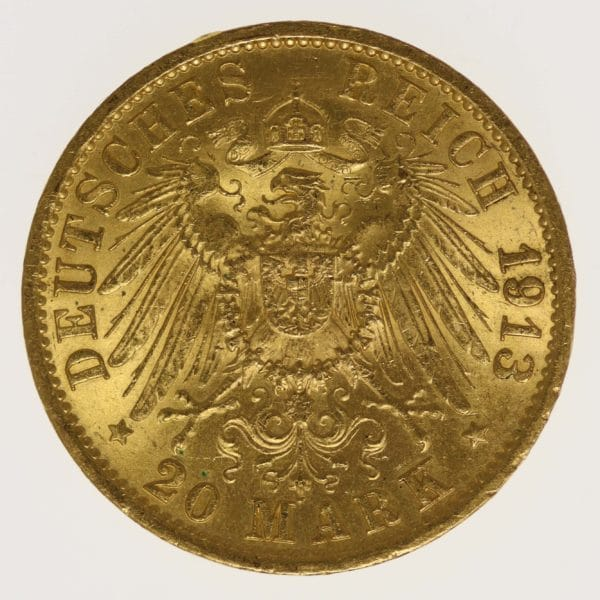 deutsches-kaiserreich-ab-1871 - Preussen Wilhelm II.20 Mark 1913 A