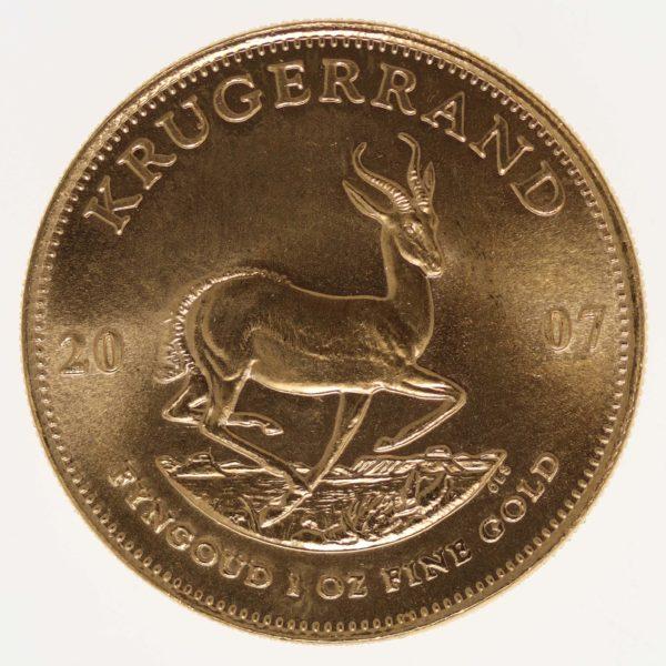 suedafrika - Südafrika Krügerrand 1 Unze 2007