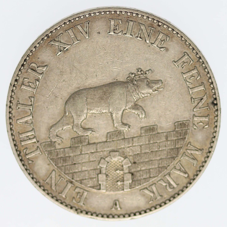 altdeutschland-deutsche-silbermuenzen - Anhalt Bernburg Alexander Carl Ausbeutetaler 1852