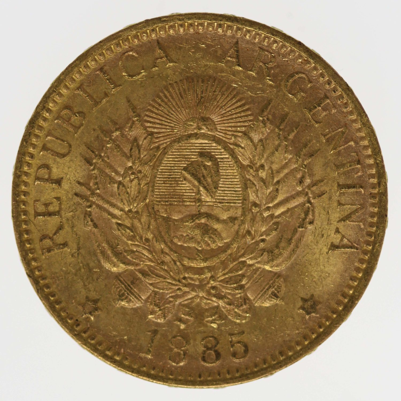 argentinien - Argentinien 5 Pesos / Argentino 1885