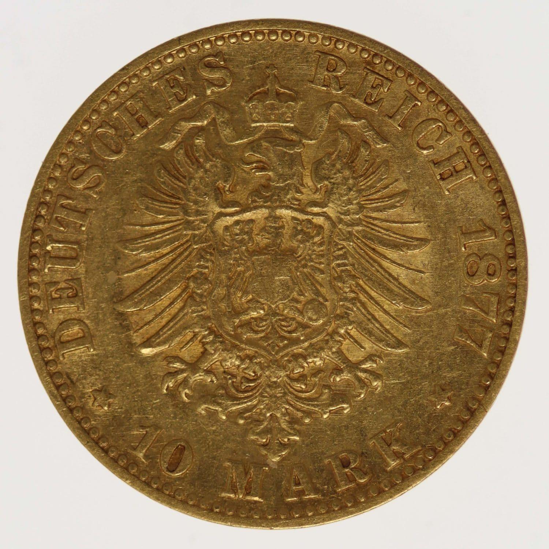 deutsches-kaiserreich-ab-1871 - Baden Friedrich I. 10 Mark 1877