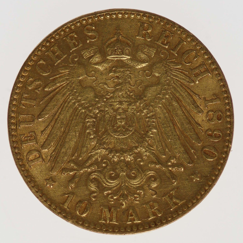 deutsches-kaiserreich-ab-1871 - Baden Friedrich I. 10 Mark 1890
