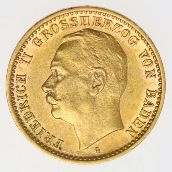 deutsches-kaiserreich-ab-1871 - Baden Friedrich II. 10 Mark 1909