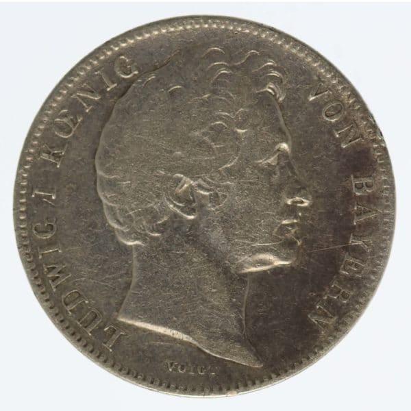 altdeutschland-deutsche-silbermuenzen - Bayern Ludwig I. 1/2 Gulden 1844