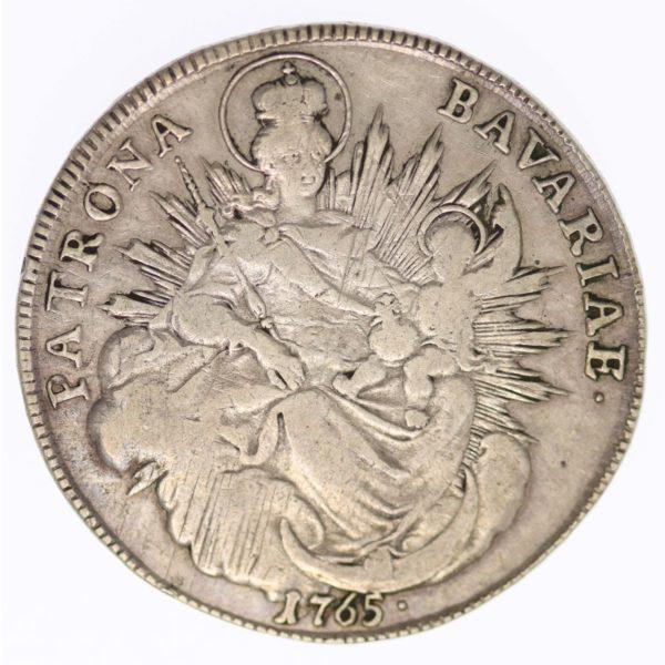 altdeutschland-deutsche-silbermuenzen - Bayern Maximilian III. Joseph Taler 1765