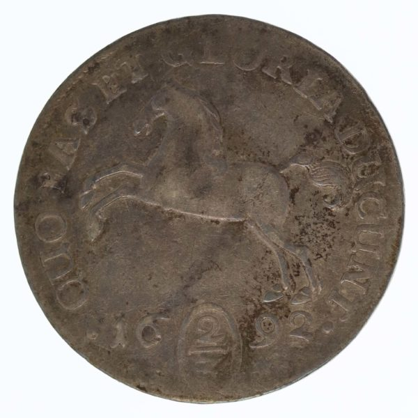 altdeutschland-deutsche-silbermuenzen - Braunschweig Lüneburg Celle Georg Wilhem 2/3 Taler 1692