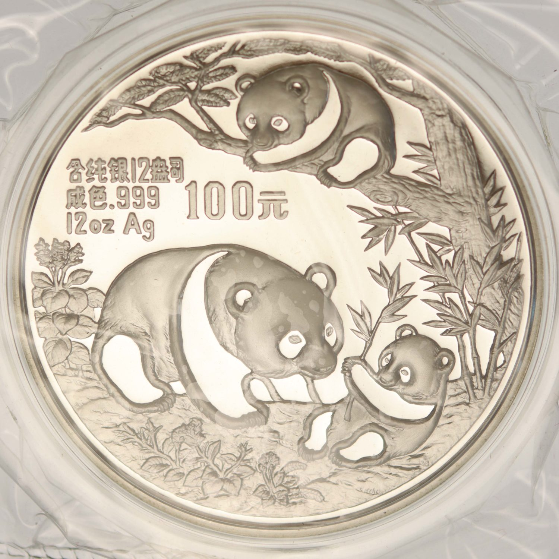 china-silbermuenzen-uebrige-welt - China Panda 12 Unzen 1991
