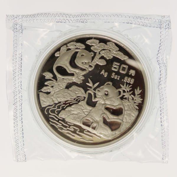 china-silbermuenzen-uebrige-welt - China Panda 5 Unzen 1994