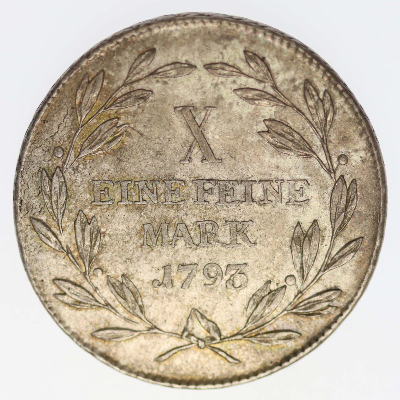 altdeutschland-deutsche-silbermuenzen - Frankfurt Stadt Taler 1793