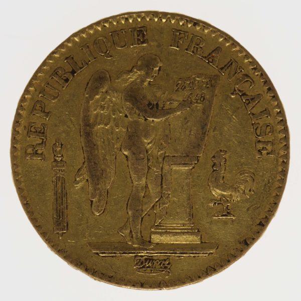 frankreich - Frankreich 20 Francs 1848 A