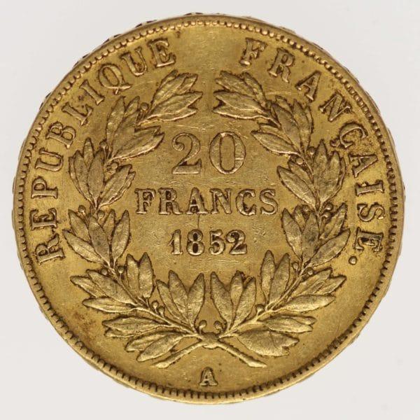 frankreich - Frankreich Louis-Napoleon Bonaparte 20 Francs 1852 A