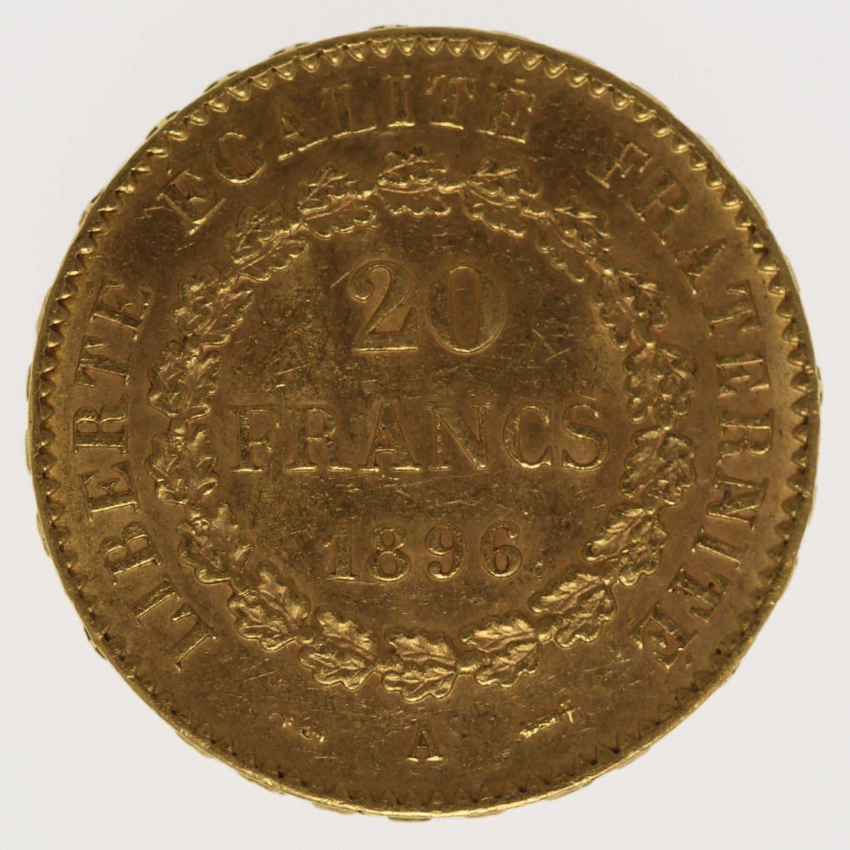 frankreich - Frankreich 20 Francs 1896 A