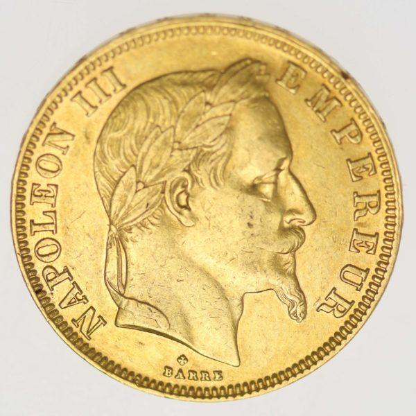frankreich - Frankreich Napoleon III. 50 Francs 1862 BB