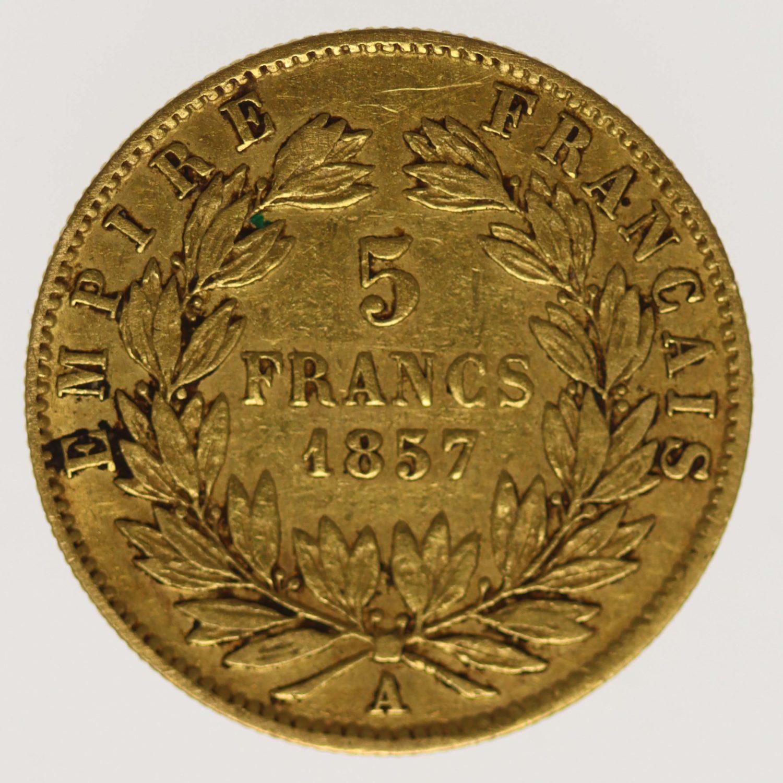 frankreich - Frankreich Napoleon III. 5 Francs 1857 A