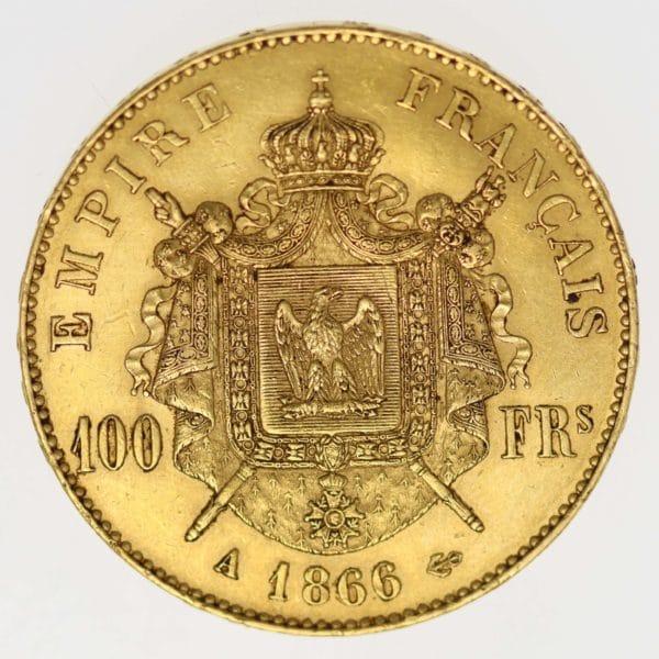 frankreich - Frankreich Napoleon III. 100 Francs 1866 A