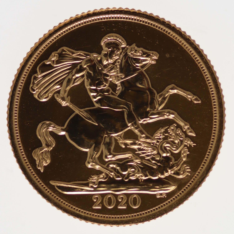 grossbritannien - Großbritannien Elisabeth II. Sovereign 2020